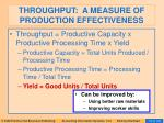 throughput a measure of production effectiveness97