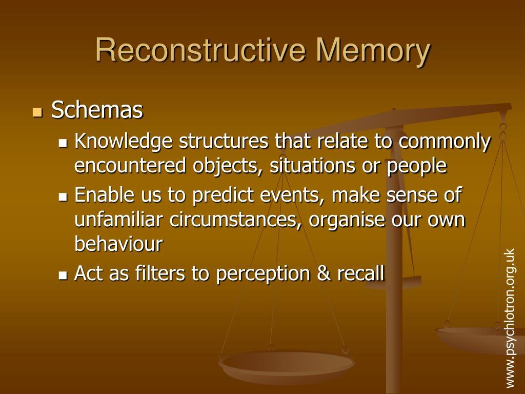 Reconstructive Memory