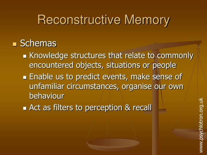 Reconstructive memory3