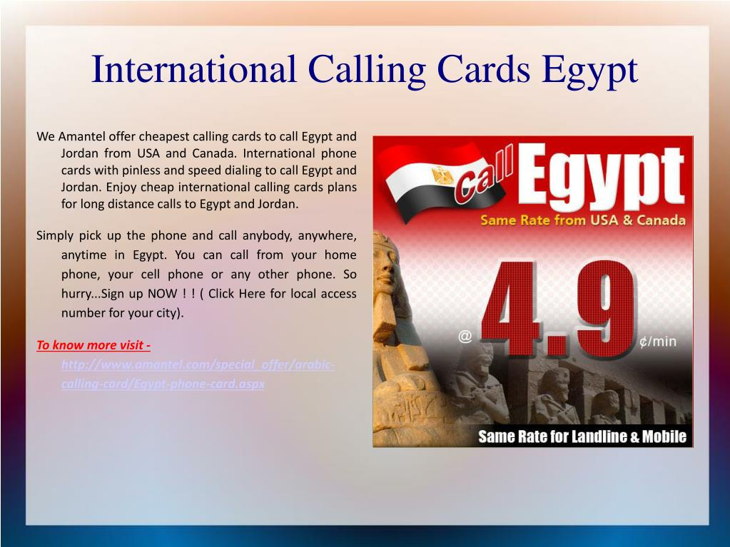 PPT - International calling cards PowerPoint Presentation