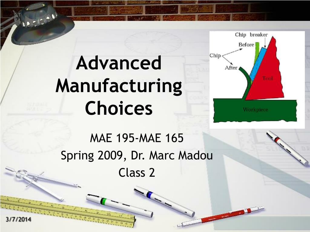 advanced manufacturing choices l.