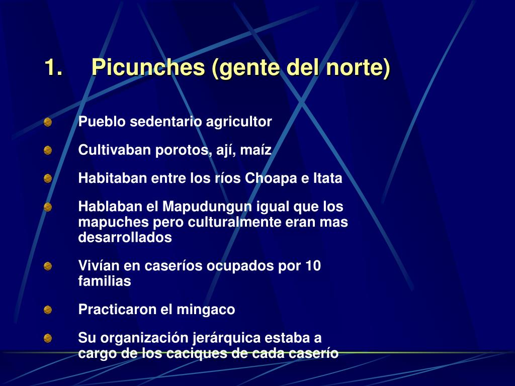 Picunches (gente del norte)
