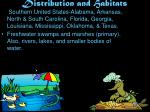 distribution and habitats