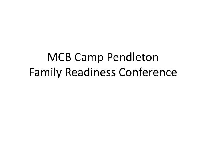 mcb camp pendleton family readiness conference n.