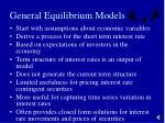general equilibrium models