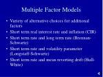 multiple factor models