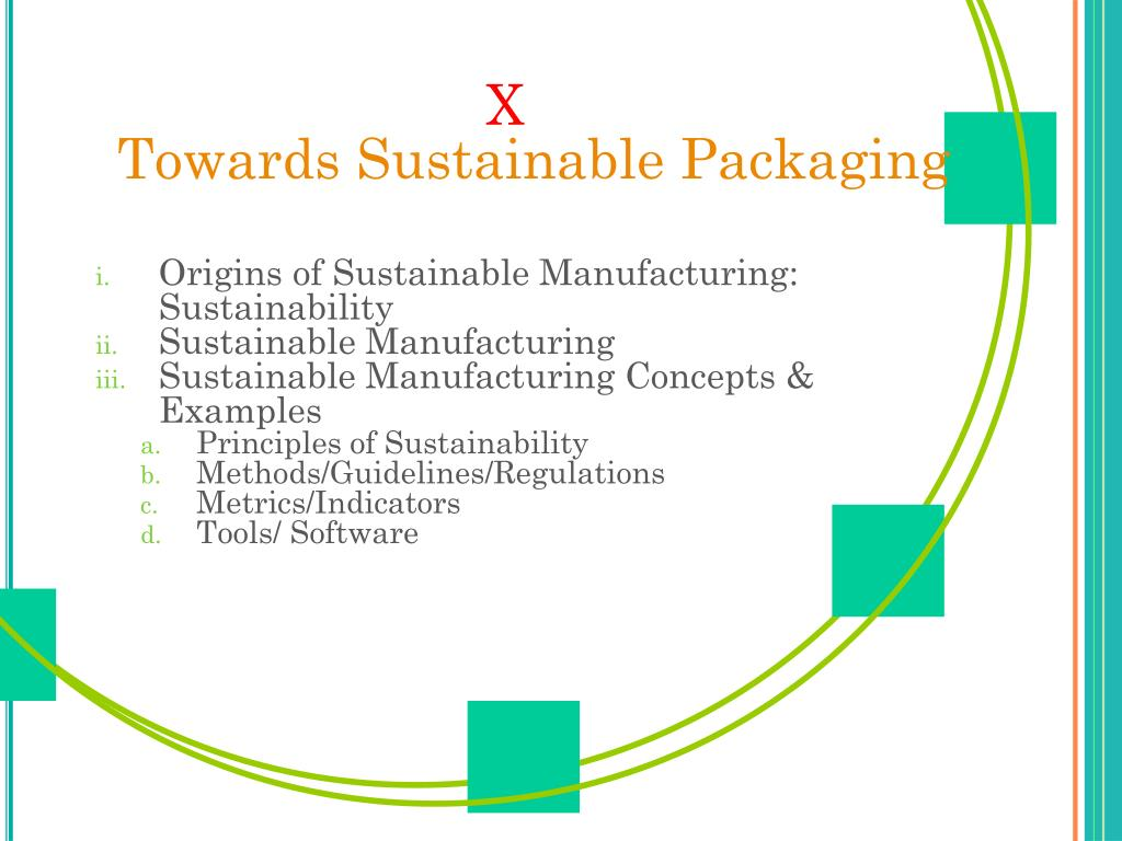 x towards sustainable packaging l.