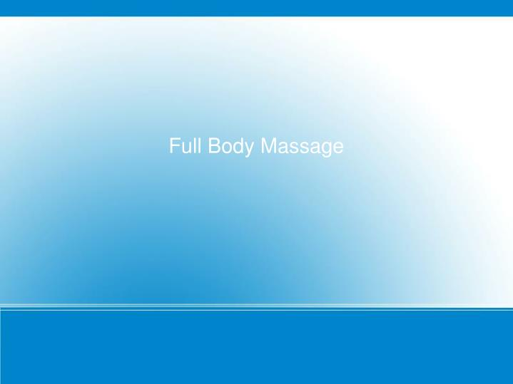 full body massage n.