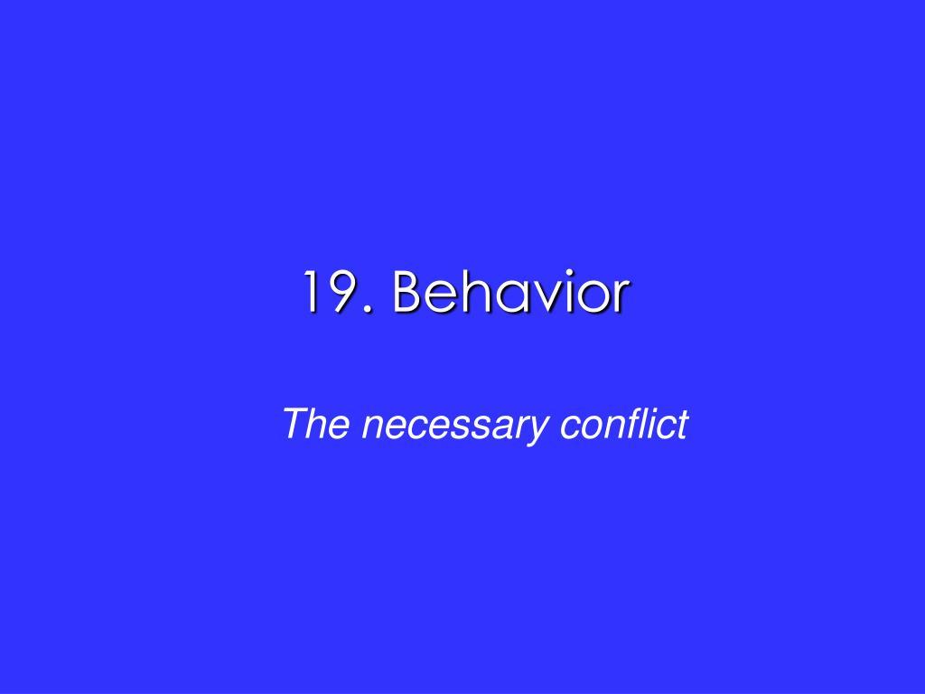 19 behavior l.