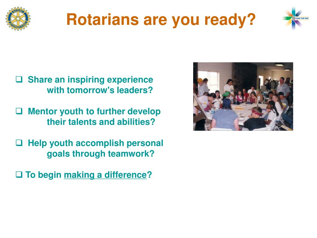 Share an inspiring experience with tomorrow's leaders?