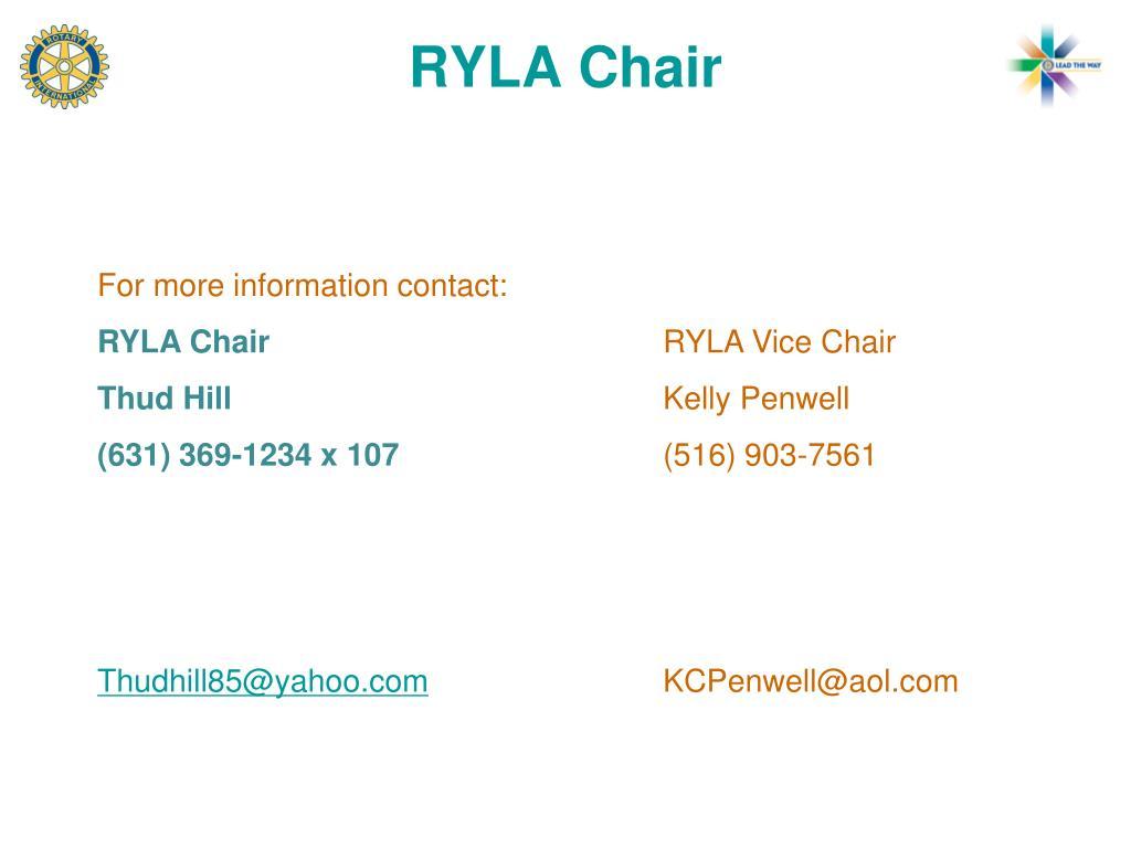 RYLA Chair