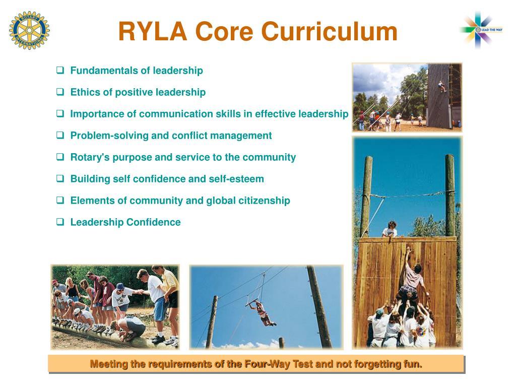 RYLA Core Curriculum