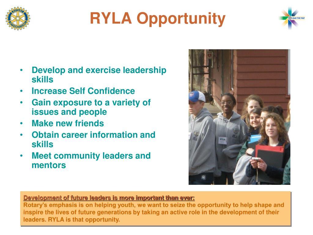 RYLA Opportunity