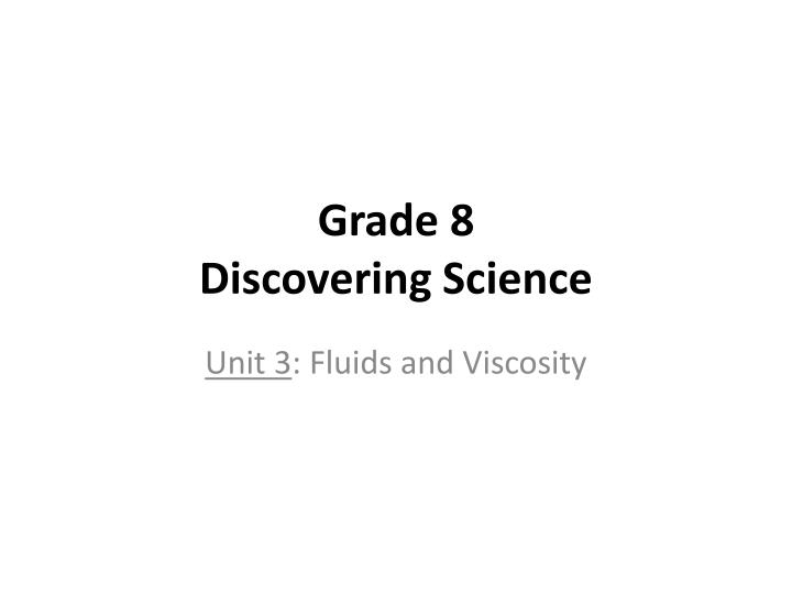 grade 8 discovering science n.