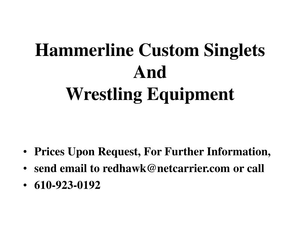 hammerline custom singlets and wrestling equipment l.
