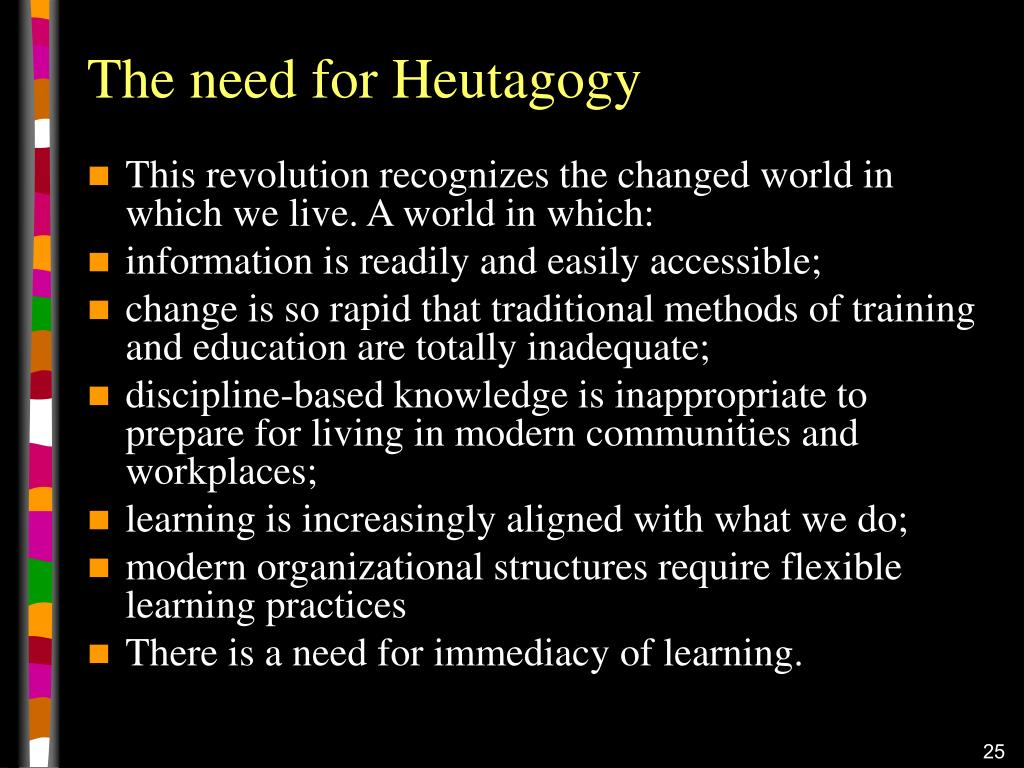 The need for Heutagogy