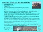 the latest situation sidmouth herald