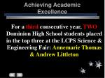 achieving academic excellence22