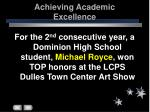 achieving academic excellence35