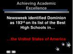 achieving academic excellence51
