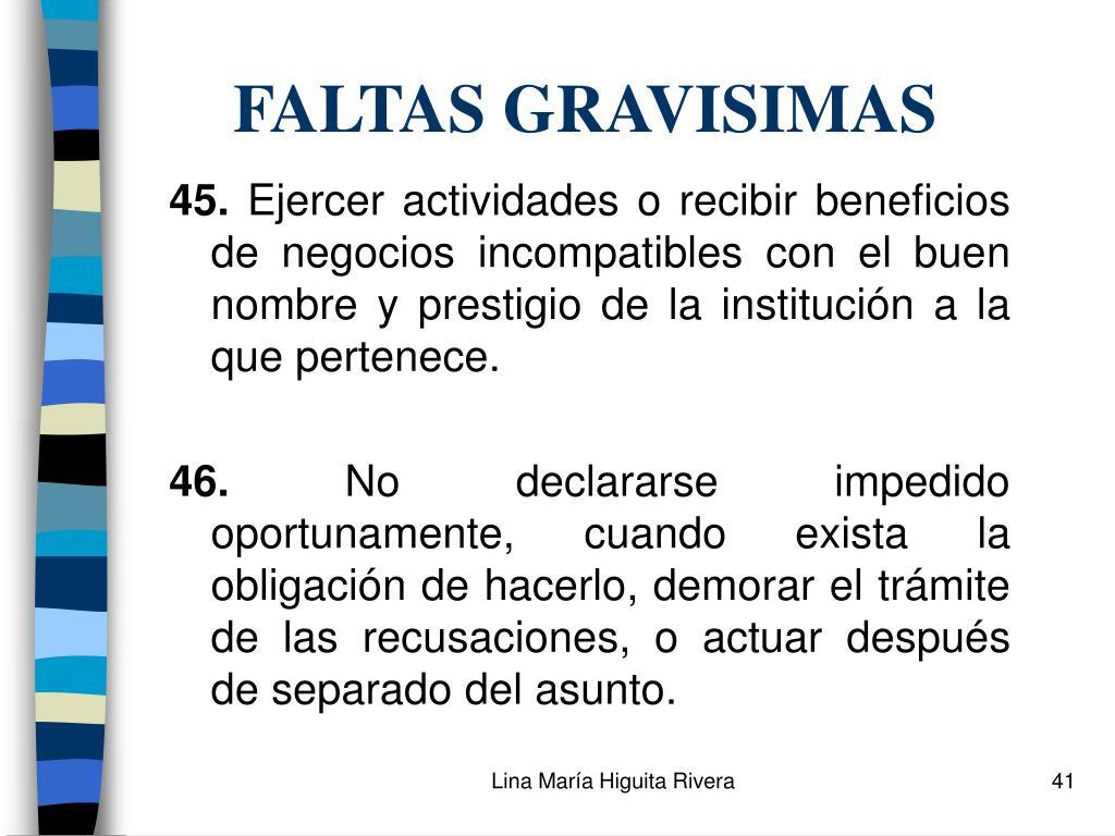 FALTAS GRAVISIMAS