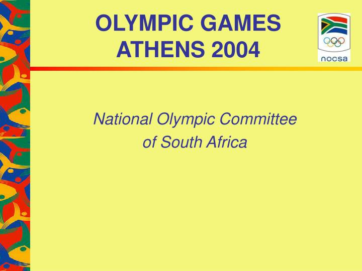 olympic games athens 2004 n.