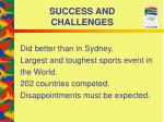 success and challenges20