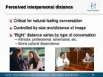 perceived interpersonal distance