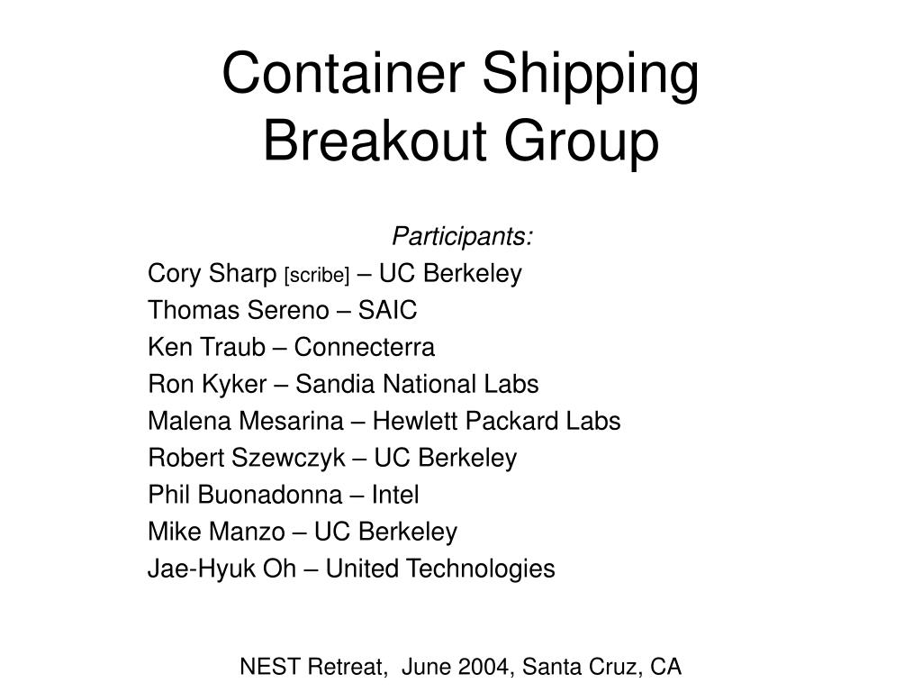 container shipping breakout group l.