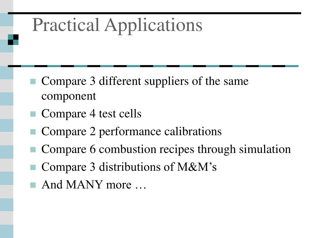 Practical Applications