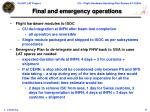 final and emergency operations