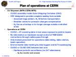 plan of operations at cern