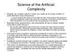 science of the artificial complexity