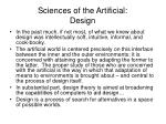 sciences of the artificial design
