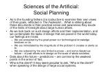 sciences of the artificial social planning