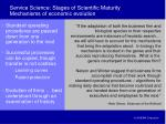 service science stages of scientific maturity mechanisms of economic evolution
