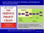 service worlds operations marketing and management the service profit chain