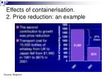 effects of containerisation 2 price reduction an example