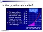 is the growth sustainable