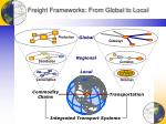 freight frameworks from global to local
