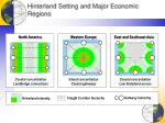 hinterland setting and major economic regions