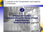 insertion in the transportation and logistical framework