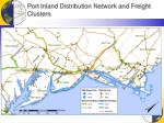 port inland distribution network and freight clusters