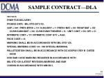 sample contract dla
