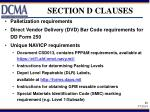 section d clauses