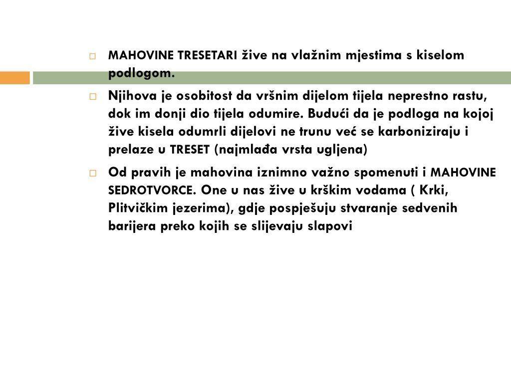 MAHOVINE TRESETARI