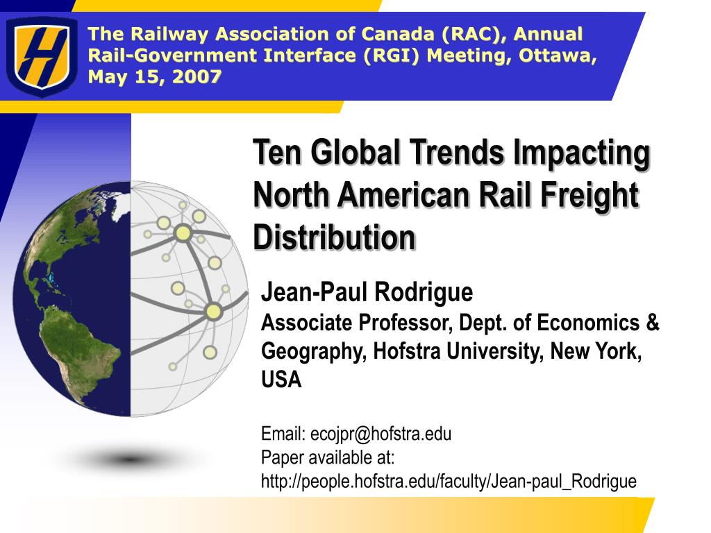 ten global trends impacting north american rail freight distribution l.