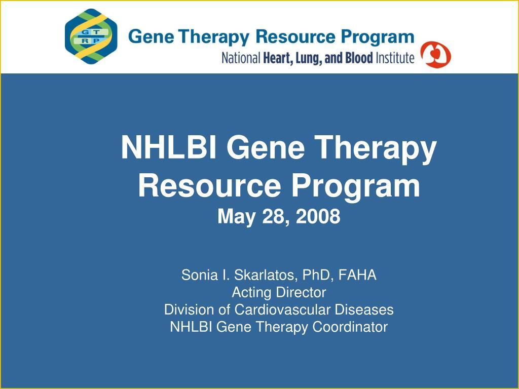 NHLBI Gene Therapy
