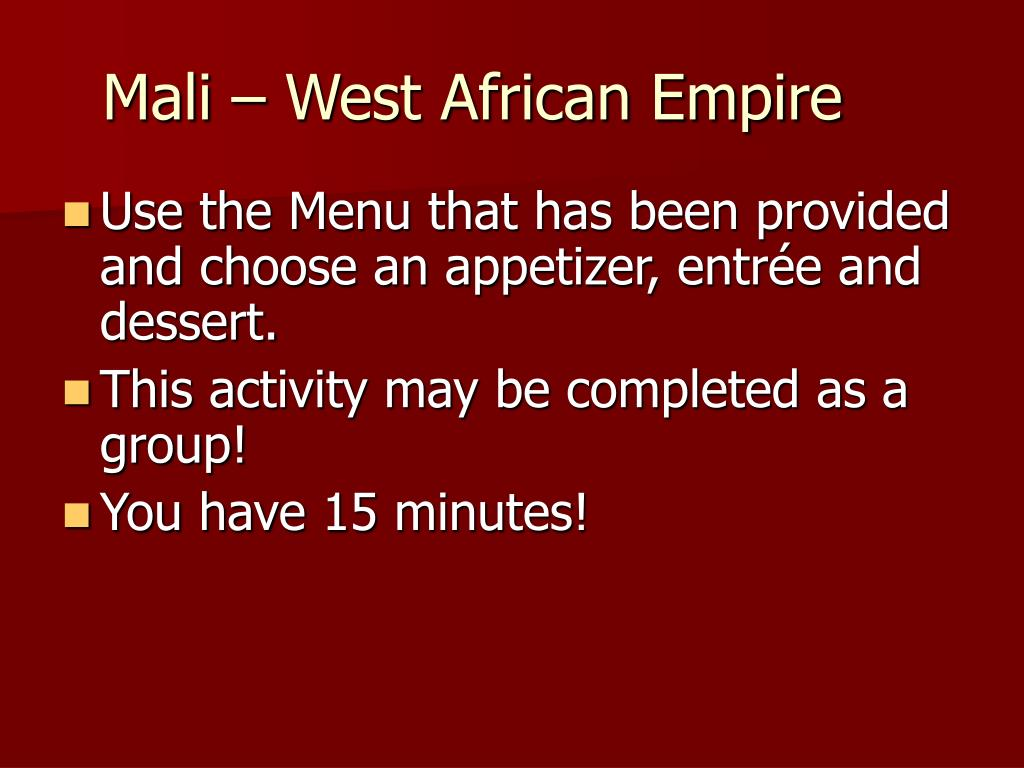 Mali – West African Empire