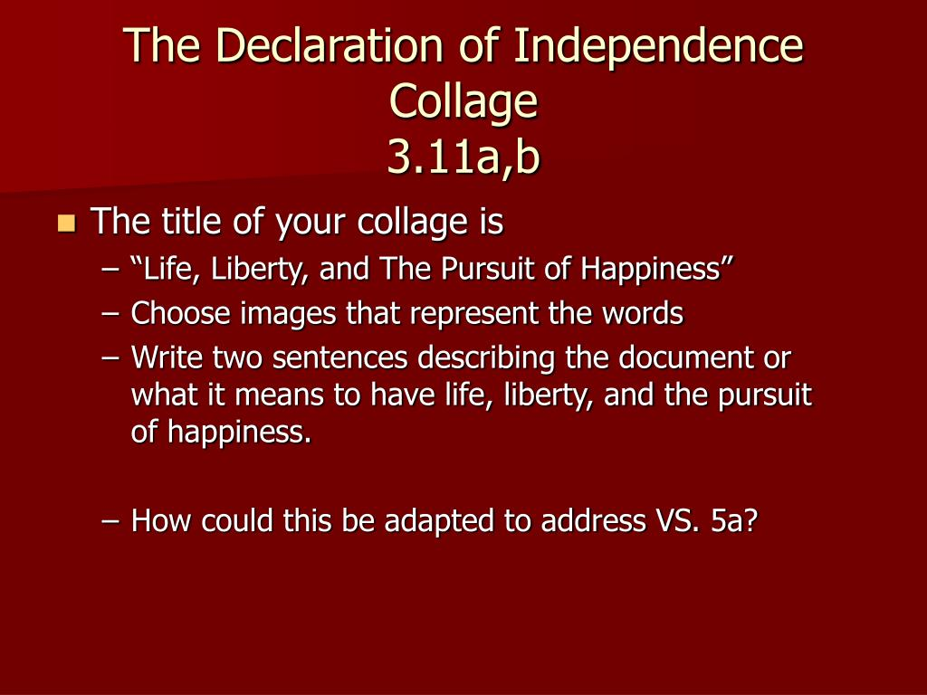 The Declaration of Independence Collage